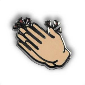 """Pin mit Motiv """"Klatschende Hände"""""""