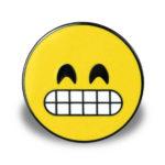"""Pin mit Motiv """"Grinsendes Gesicht mit lächelnden Augen"""""""