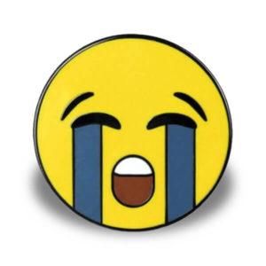 """Pin mit Motiv """"Heftig weinendes Gesicht"""""""