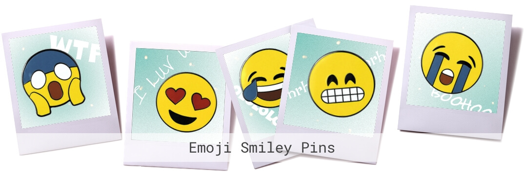 Neue Kollektion Emoji Smiley Pins